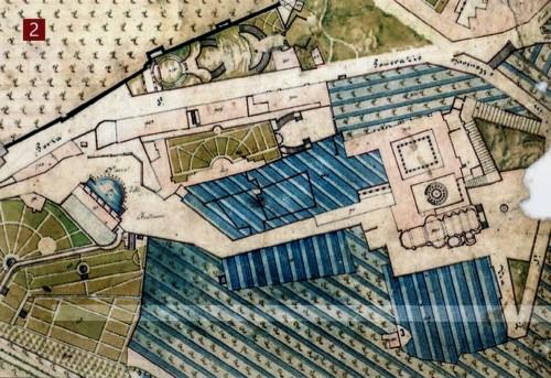 6. Widok dawnych dóbr franciszkanów - Tempietto między kościołem San Pietro in Montorio a drugim dziedzińcem klasztornym
