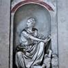 Kaplica Męczeństwa św. Piotra (Tempietto), wnętrze kaplicy - figura św. Jana Ewangelisty zdobiąca jedną ze ścian kaplicy, Giovanni Francesco Rossi