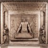 Vir Dolorum - płyta dekorująca nagrobek papieża Kaliksta III w Grotach Watykańskich