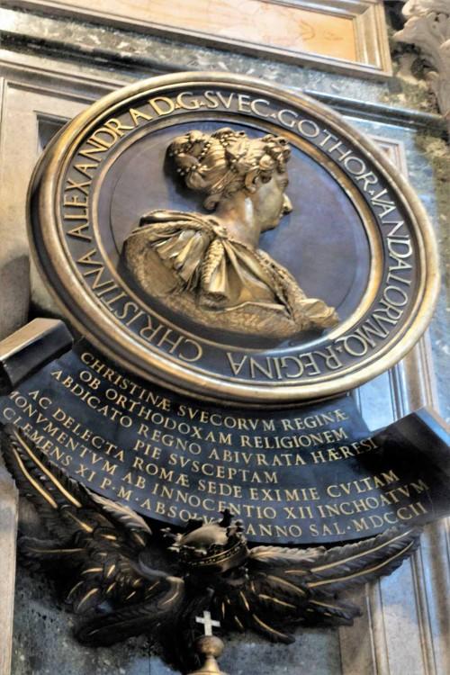 Pomnik królowej Szwecji - Krystyny, fragment, bazylika San Pietro in Vaticano