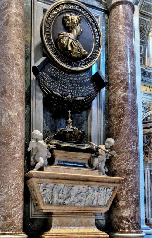 Pomnik nagrobny królowej Krystyny, bazylika San Pietro in Vaticano