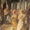 Cesarzowa Licynia Eudoksja przekazuje kajdany Piotrowe papieżowi Leonowi I, bazylika San Pietro in Vincoli, absyda