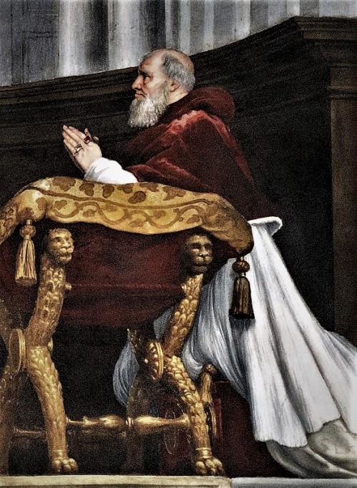 Portret papieża Juliusza II (Stanze Rafaela) w pałacu Apostolskim, obecnie część Musei Vaticani