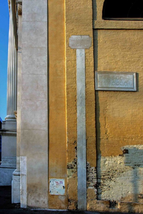 San Rocco, wodowskaz z 1821 r.
