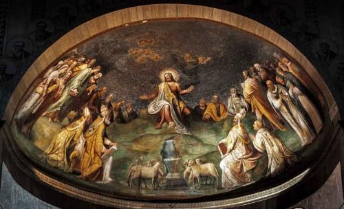 Santa Sabina, freski absydy - Chrystus w otoczeniu apostołów i ojców kościoła, Taddeo Zuccari