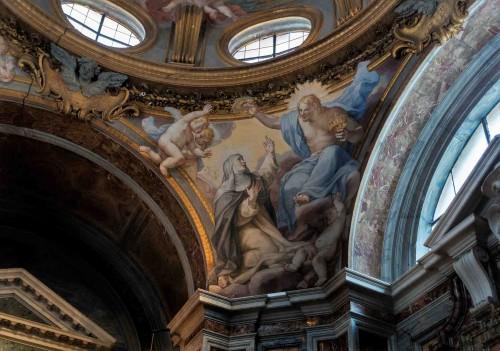 Santa Sabina, Koronacja św. Katarzyny - żagielek kopuły kaplicy św. Katarzyny ze Sieny