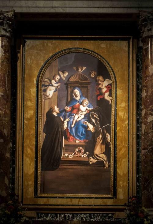 Santa Sabina, Madonna w otoczeniu św. Dominika i św. Katarzyny, kaplica św. Katarzyny ze Sieny, Sassoferrato