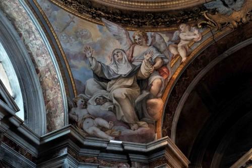 Santa Sabina, Stygmaty św. Katarzyny - widok jednego z żagielków kopuły kaplicy św. Katarzyny ze Sieny