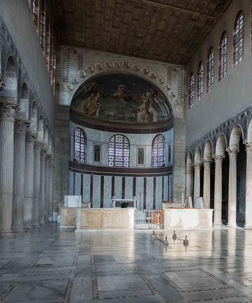 Santa Sabina, wnętrze kościoła