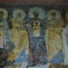 Santa Sabina, portyk kościoła - fresk  z pocz. VIII w., Madonna w towarzystwie świętych i klęczącego papieża