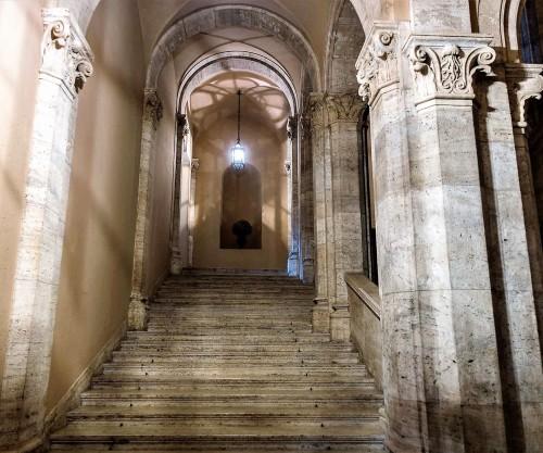 Palazzo Venezia, reprezentacyjna klatka schodowa Scala Nova, zmodernizowana w latach 1924-1930