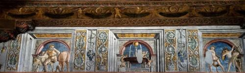 Palazzo Venezia, Sala dei Paramenti, fryz z czynami Herkulesa