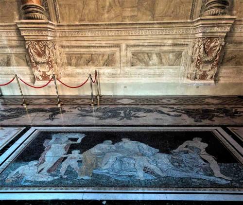 Palazzo Venezia, Sala del Mappamondo, posadzka z czasów Mussoliniego - porwanie Europy