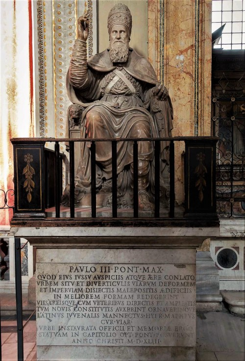 Pomnik Pawła III, kościół Santa Maria in Araceoli