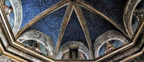 Pinturicchio i jego warsztat, kaplica Costa w kościele Santa Maria del Popolo, w lunetach czterej ojcowie Kościoła