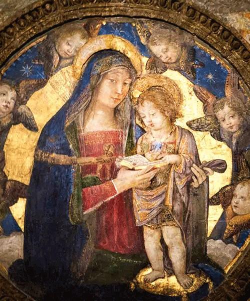 Pinturicchio, Madonna z Dzieciątkiem, apartamenty papieża Aleksandra VI, pałac Apostolski