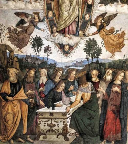Pinturicchio, Wniebowzięcie Marii, fragment, kaplica Basso della Rovere, kościół Santa Maria del Popolo