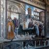 Pinturicchio, Śmierć św. Bernarda ze Sieny, Cappella Bufalini, kościół Santa Maria in Aracoeli