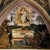 Pinturicchio, Zmartwychwstanie (po lewej papież Aleksander VI), apartamenty Borgiów (Sala dei Misteri), pałac Apostolski