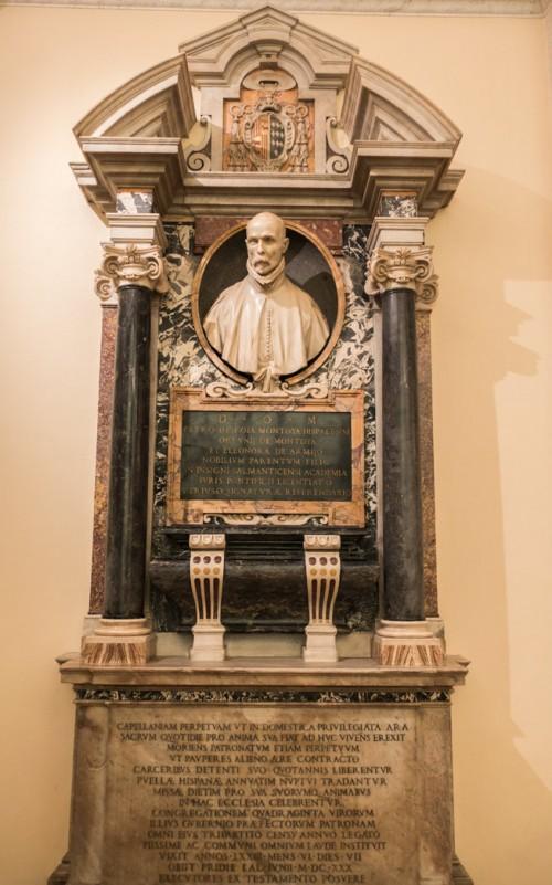 Gian Lorenzo Bernini, nagrobek Pedro Montoya, dawna zakrystia kościoła Santa Maria in Monserrato