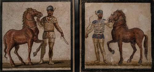 Jeźdźcy, mozaika podłogowa, Museo Nazionale Romano, Palazzo Massimo