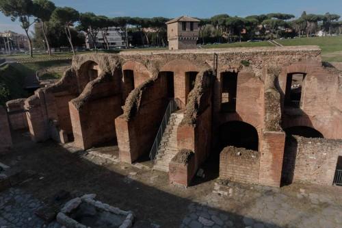 Pozostałości konstrukcji hipodromu