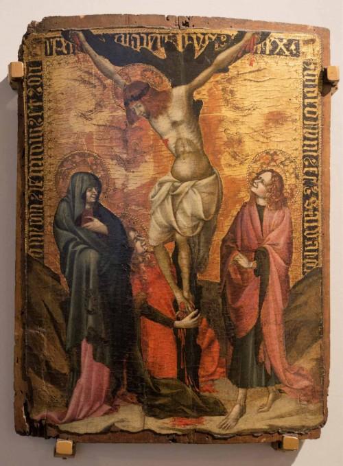 Scena Ukrzyżowania, Stefano da Frerrara, 1. poł. XV w., Museo Nazionale - Palazzo Venezia