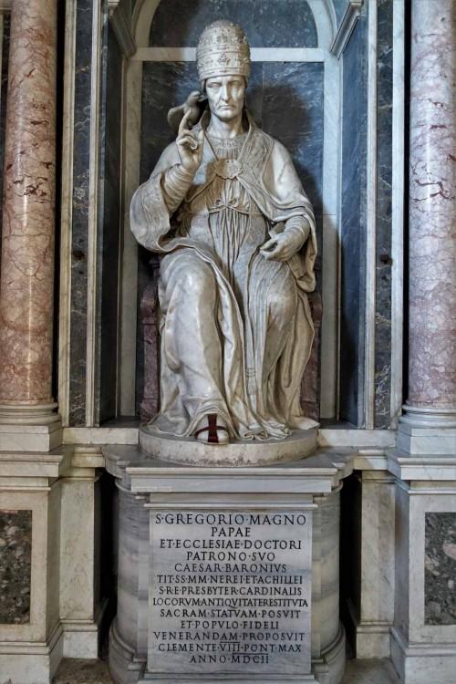 Posąg św. papieża Grzegorza I, Nicolas Cordier, oratorium Santa Barbara