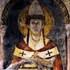 Św. Grzegorz Wielki, fresk z XIII wiek., kościół San Saba