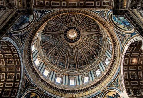 Bazylika San Pietro in Vaticano, dekoracja kopuły