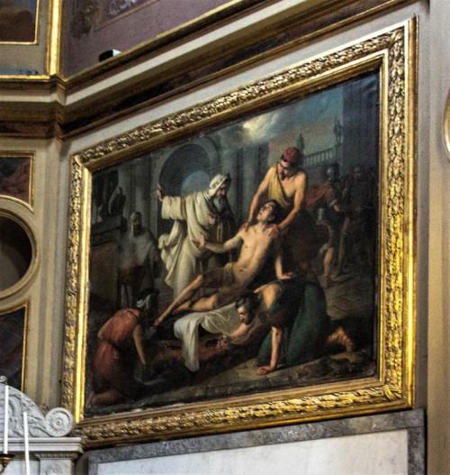 Męczeństwo Wawrzyńca, Giuseppe Creti, kościół San Lorenzo in Lucina