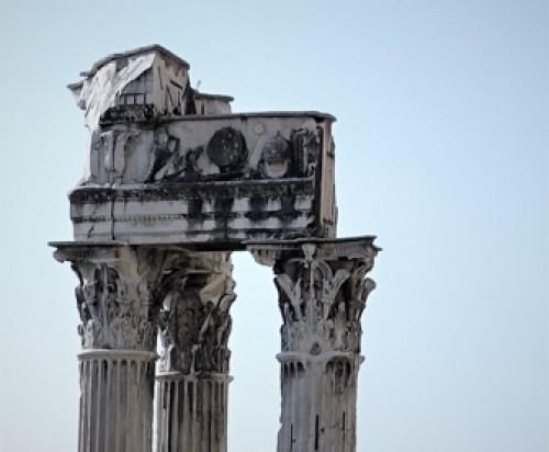 Kapitele i belkowanie świątyni Wespazjana i Tytusa na Forum Romanum
