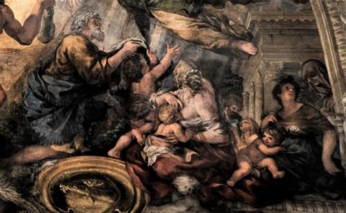 Triumf Opatrzności Bożej, lud oczekujący od papieża sprawiedliwości i dobrobytu, Pietro da Cortona, Palazzo Barberini
