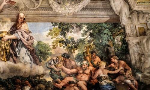 Triumf Opatrzności Bożej, opilstwo w postaci Bachusa, któremu towarzyszą bachantki, Pietro da Cortona, Palazzo Barberini