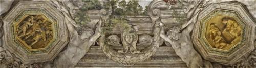 Triumf Opatrzności Bożej, po lewej Fabius Maksimus w obozie, po prawej Tytus Manlius skazuje syna na śmierć, Pietro da Cortona, Palazzo Barberini