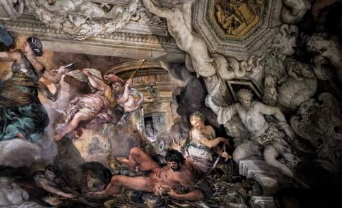 Triumf Opatrzności Bożej, zniewolony Gniew powstrzymywany przez Łagodność, Pietro da Cortona, Palazzo Barberini
