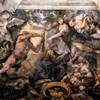 Triumf Opatrzności Bożej, Herkules rozprawiający się z Harpią i Sprawiedliwość wraz z Dostatkiem (po prawej stronie), Pietro da Cortona, Palazzo Barberini