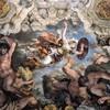 Triumf Opatrzności Bożej, Minerwa strącająca gigantów, Pietro da Cortona, Palazzo Barberini