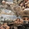 Triumf Opatrzności Bożej, nadlatująca alegoria Czystości, poniżej kobiety - powód męskiego braku wstrzemięźliwości, Pietro da Cortona, Palazzo Barberini