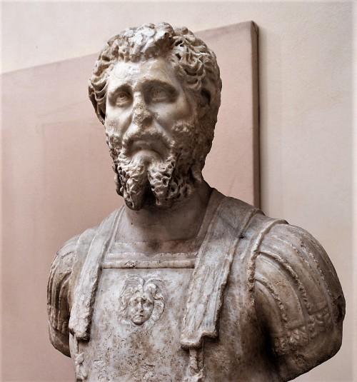 Popiersie cesarza Septymiusza Sewera, Museo Ostiense, Ostia Antica