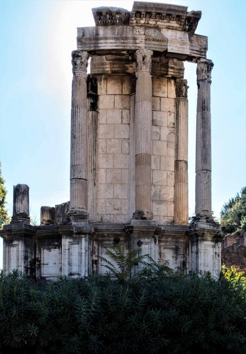 Pozostałości świątyni Westy, Forum Romanum