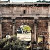 Łuk Septymiusza Sewera, Forum Romanum