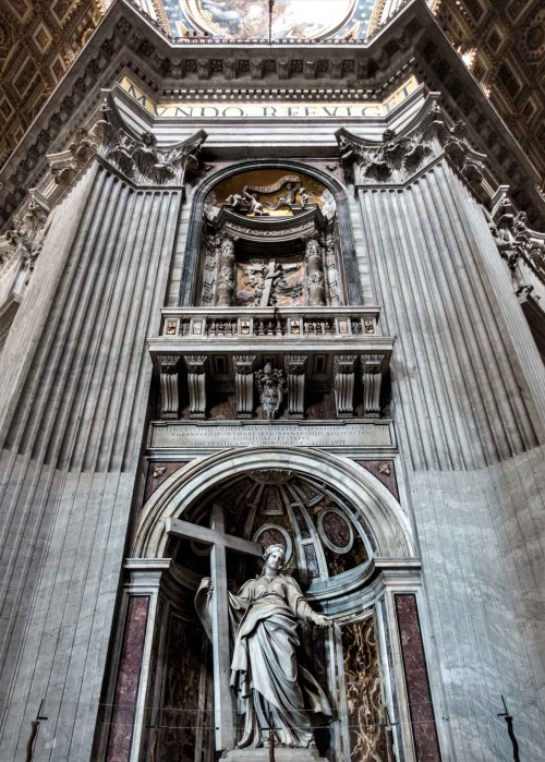 One of the four pillars of the Basilica of San Pietro in Vaticano – foundation of Pope Urban VIII