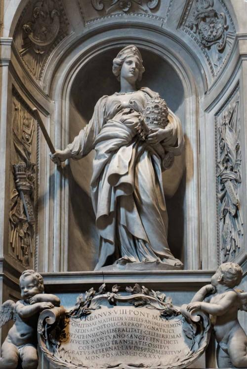 Pomnik nagrobny Matyldy z Canossy, fundacja papieża Urbana VIII, Gian Lorenzo Bernini