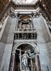 Jeden z czterech filarów bazyliki San Pietro in Vaticano - fundacja papieża Urbana VIII