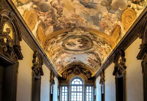 Galleria Serliana, sklepienie z freskami Pietro da Cortony, Palazzo Pamphilj