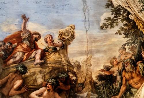 Historia Eneasza, Eneasz dopływa do brzegów Italii, Pietro da Cortona, Palazzo Pamphilj
