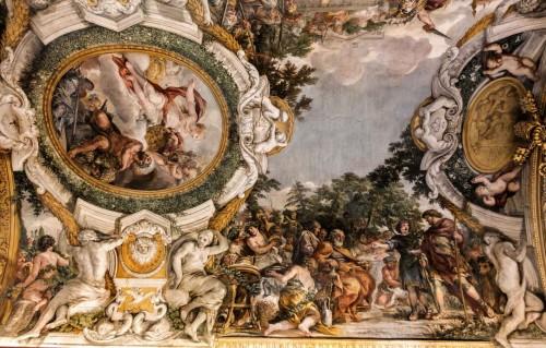 Historia Eneasza, Eneasz przybywa do króla Ewandra, wita go jego syn Pallas, Pietro da Cortona, Palazzo Pamphilj