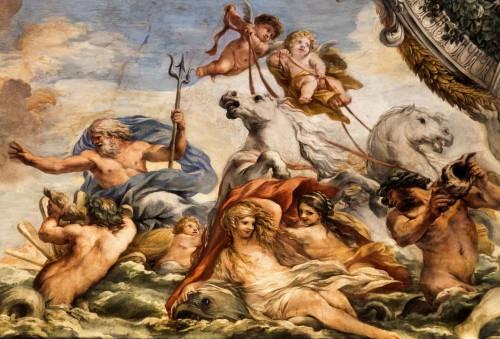 Historia Eneasza, Neptun uspokaja wiatry, aby pomóc Eneaszowi w dotarciu do ujścia Tybru, Pietro da Cortona, Palazzo Pamphilj