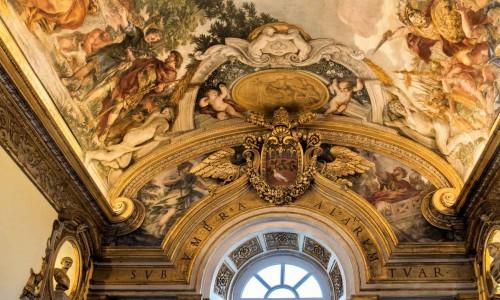 Historia Eneasza, Pallas i Eneasz przybywający do Italii, Pietro da Cortona, Palazzo Pamphilj